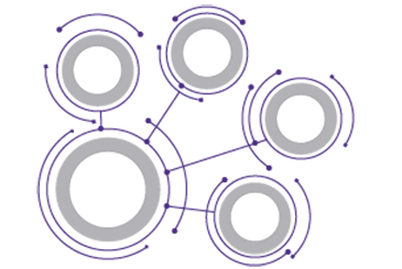 Icon featuring simple unlabeled node/relationship map