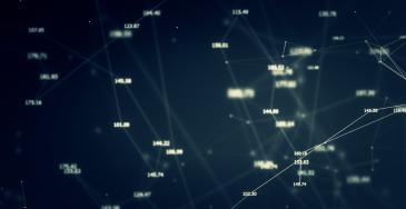 Abstract image featuring a node/point chart
